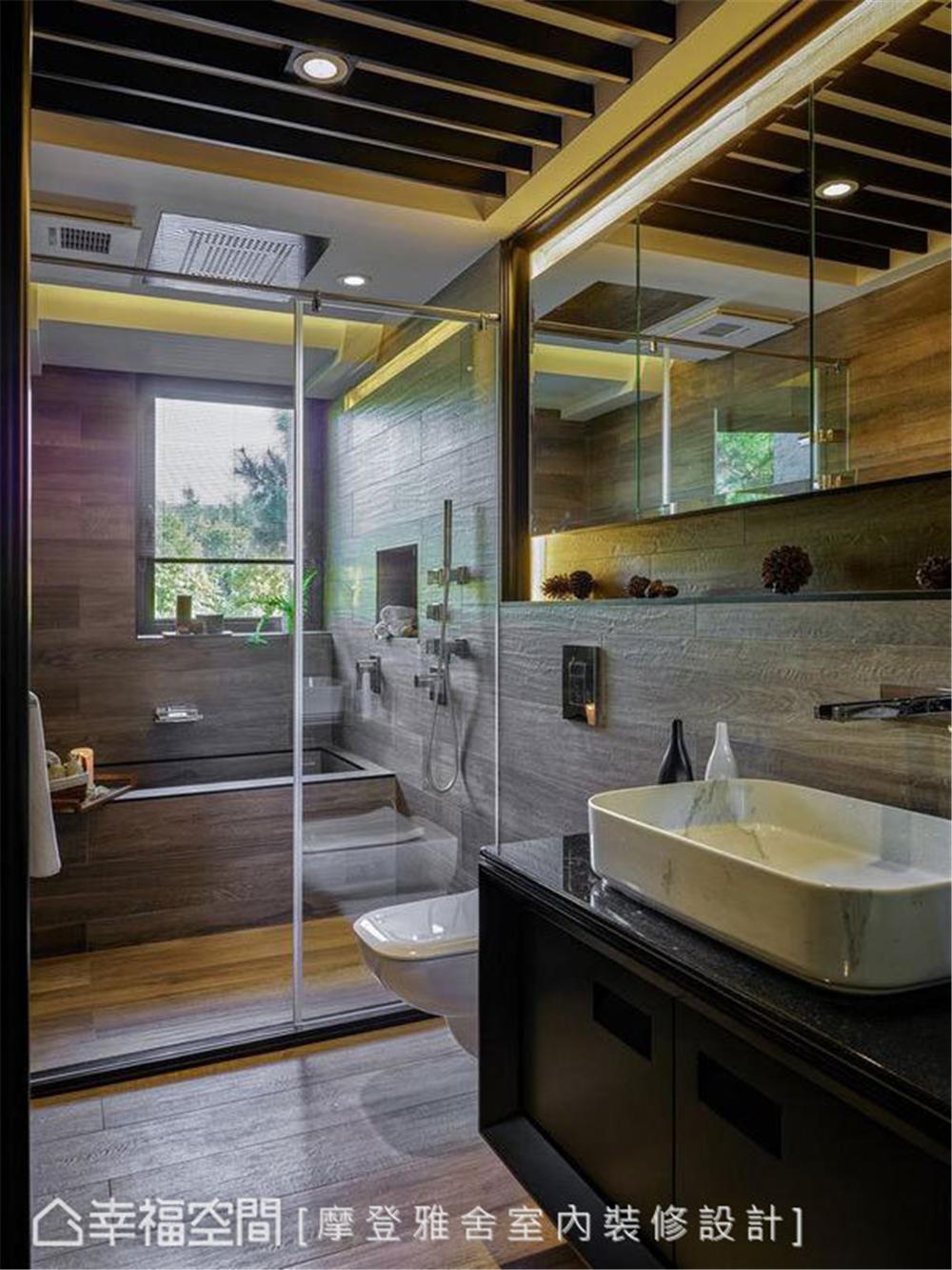 装修设计 装修完成 休闲多元异 卫生间图片来自幸福空间在198平,绿意工业风,舒适美宅的分享