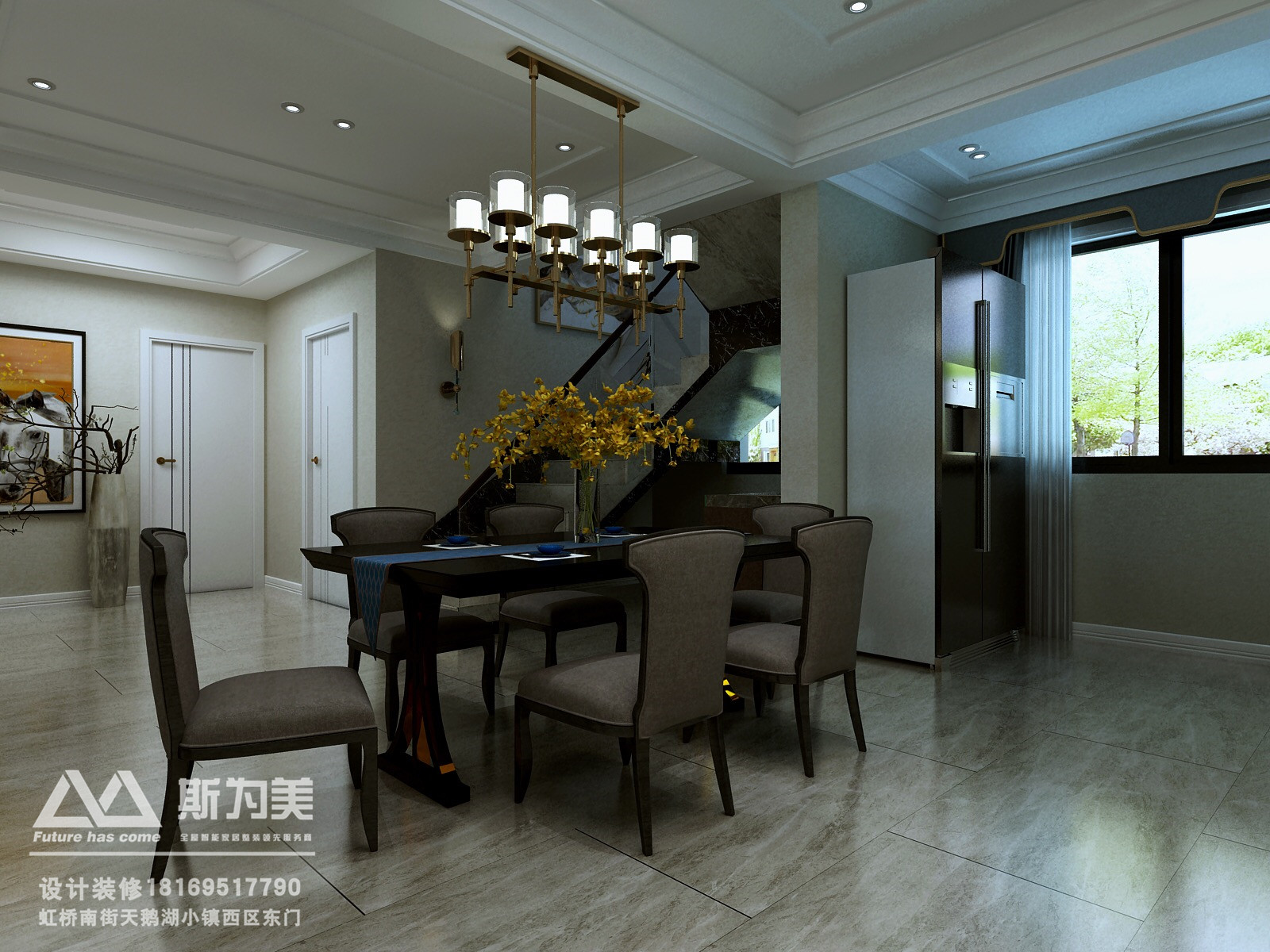 客厅 卧室 餐厅 别墅图片来自银川斯为美装饰在银川中瀛御景设计案例的分享