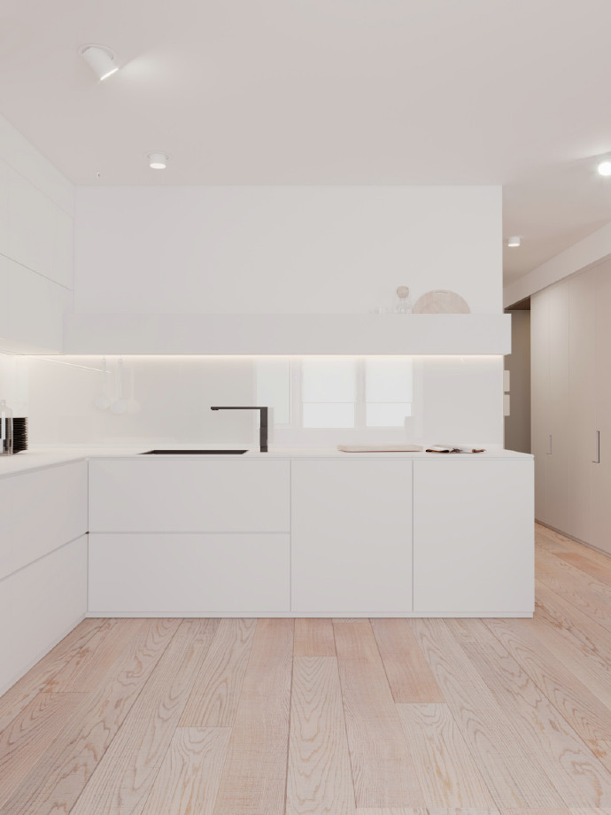 简约 二居 白领 旧房改造 80后 小资 厨房图片来自北京今朝装饰在百看不厌的粉色的分享