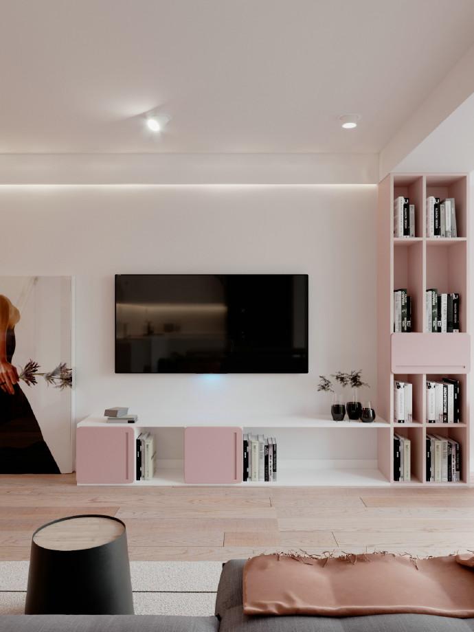 简约 二居 白领 旧房改造 80后 小资 客厅图片来自北京今朝装饰在百看不厌的粉色的分享