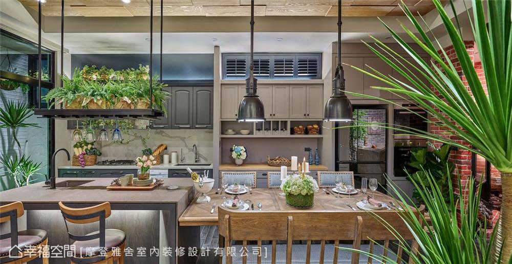 装修设计 装修完成 休闲多元异 厨房图片来自幸福空间在198平,绿意工业风,舒适美宅的分享