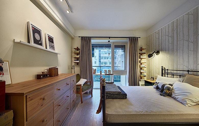 卧室图片来自家装大管家在89平情调北欧风居 沉稳又不张扬的分享