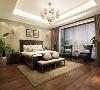 柔和的灯光给卧室营造出一种温馨浪漫的氛围,房间摆设的别致装饰,增添卧室美感。