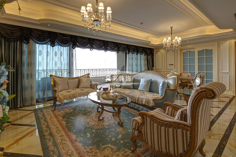 法式 别墅 三居 小资 80后 客厅图片来自兄弟装饰-蒋林明在金科御临河别墅设计|御临府装修的分享