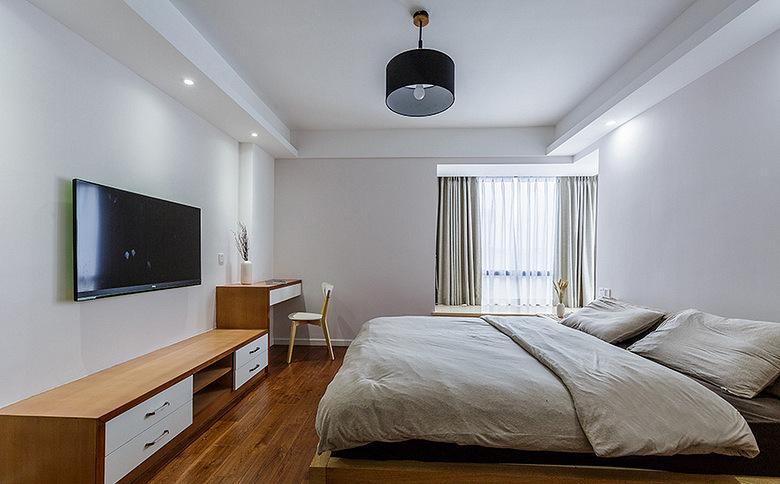 卧室图片来自家装大管家在美轮美奂 98平日式北欧混搭空间的分享