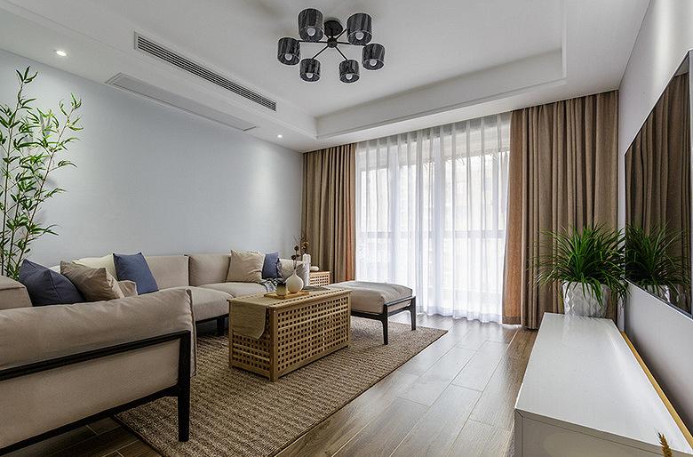 客厅图片来自家装大管家在美轮美奂 98平日式北欧混搭空间的分享