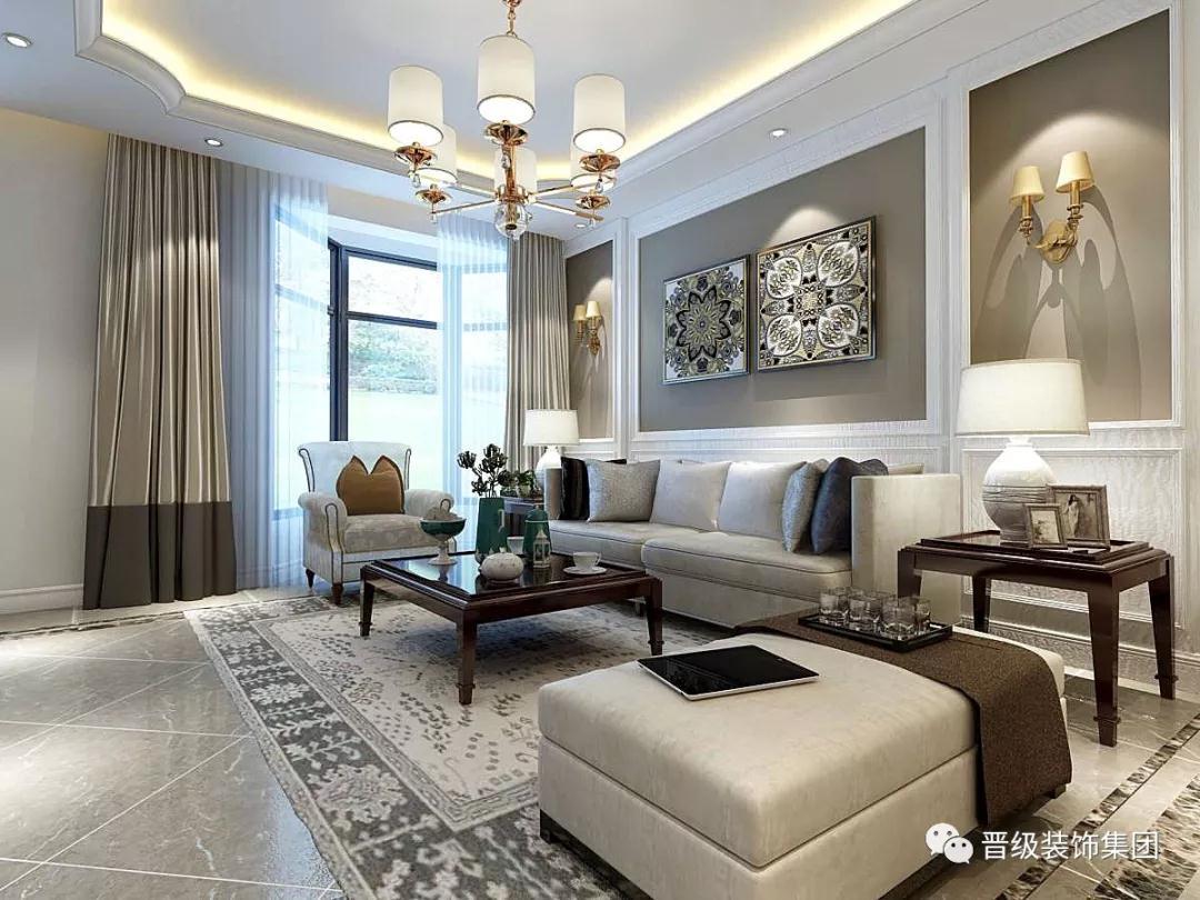美式古典 客厅图片来自晋级装饰潘露在晋级装饰-郡原城中墅的分享