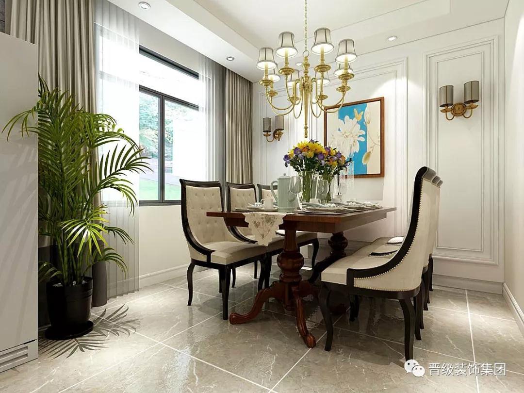 美式古典 餐厅图片来自晋级装饰潘露在晋级装饰-郡原城中墅的分享