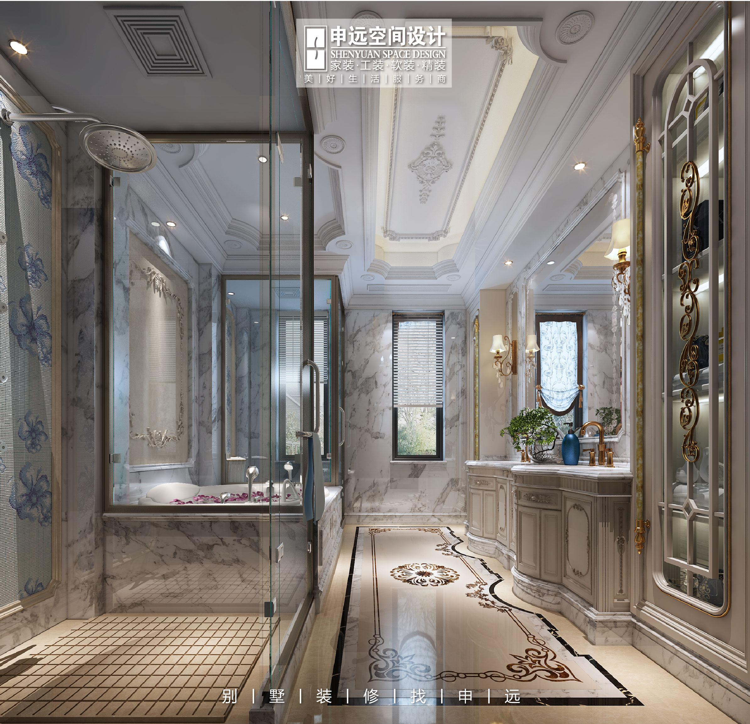 北京申远 别墅装修 装修设计 卫生间图片来自申远空间设计北京分公司在北京申远空间设计-法式轻奢的分享