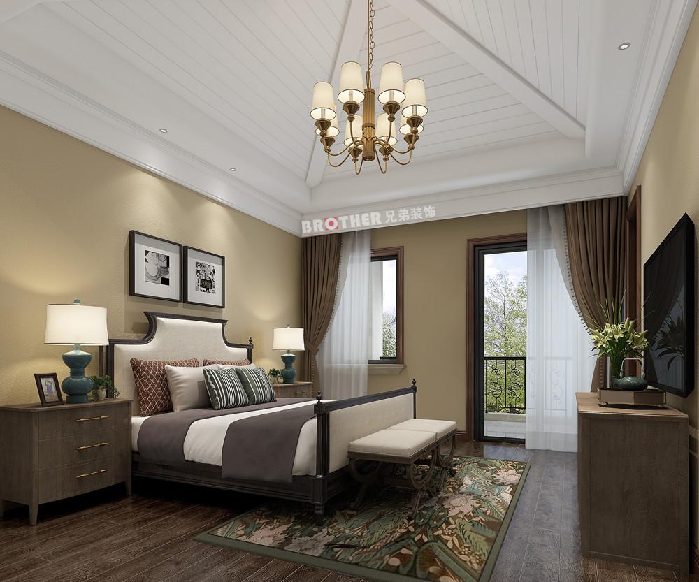 别墅 白领 客厅 荟澜山 欧式 卧室图片来自兄弟装饰-蒋林明在庆隆高尔夫别墅设计|荟澜山装修的分享
