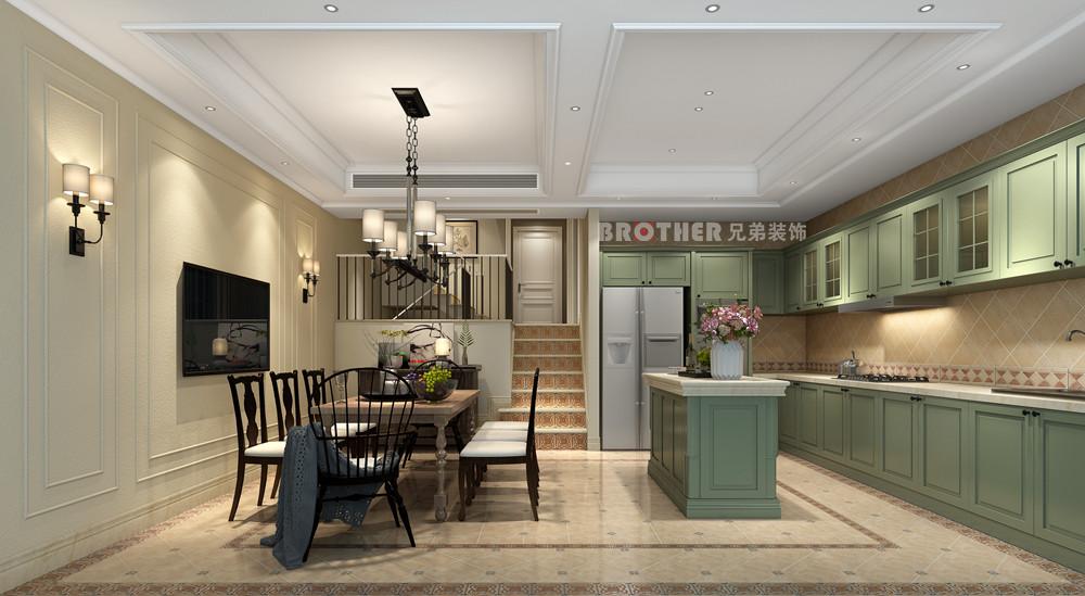 别墅 白领 客厅 荟澜山 欧式 厨房图片来自兄弟装饰-蒋林明在庆隆高尔夫别墅设计|荟澜山装修的分享