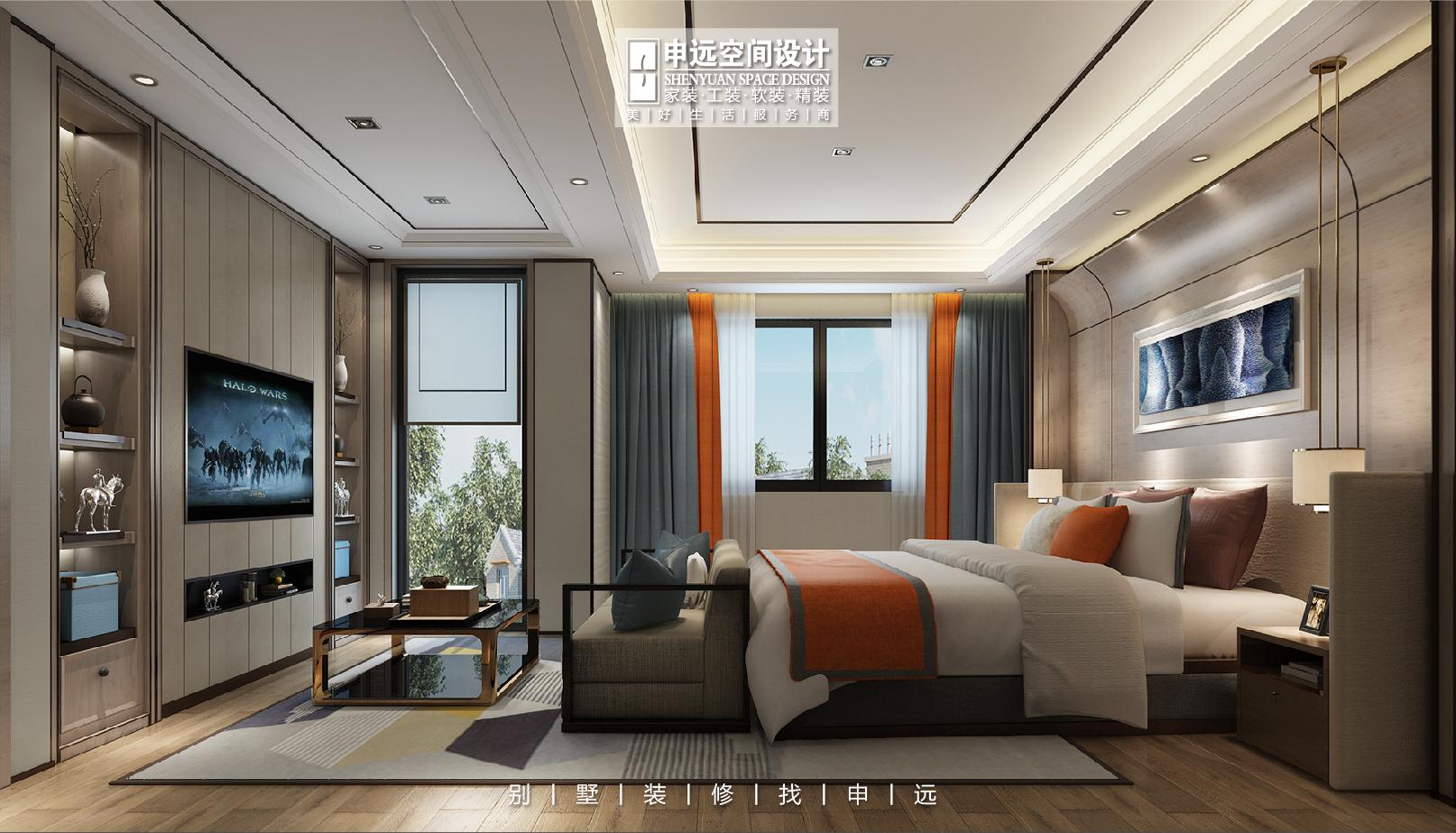 北京申远 别墅装修 别墅 卧室图片来自申远空间设计北京分公司在北京申远空间设计-别墅装修设计的分享