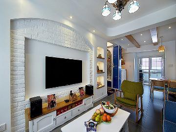 90平美式混搭空间 个性鲜明的家
