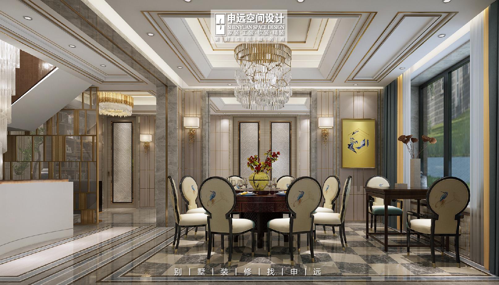 北京申远 别墅装修 别墅 餐厅图片来自申远空间设计北京分公司在北京申远空间设计-别墅装修设计的分享