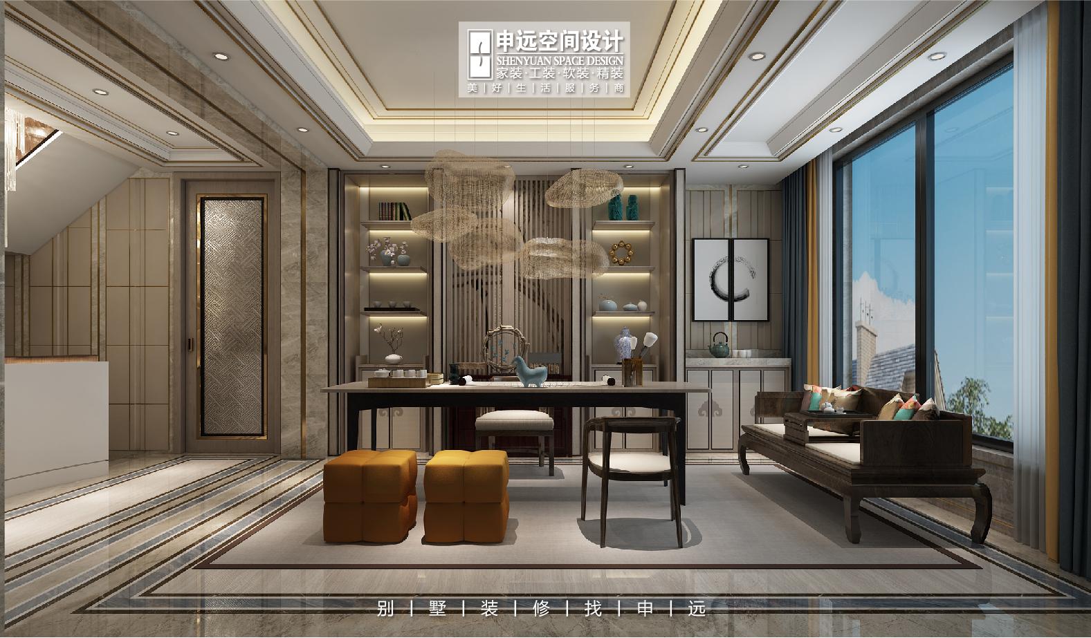 北京申远 别墅装修 别墅 书房图片来自申远空间设计北京分公司在北京申远空间设计-别墅装修设计的分享