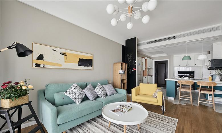 客厅图片来自家装大管家在91平北欧舒适居 简洁大方又耐看的分享