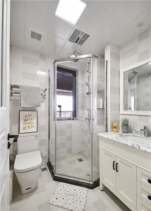 卫生间图片来自家装大管家在91平北欧舒适居 简洁大方又耐看的分享