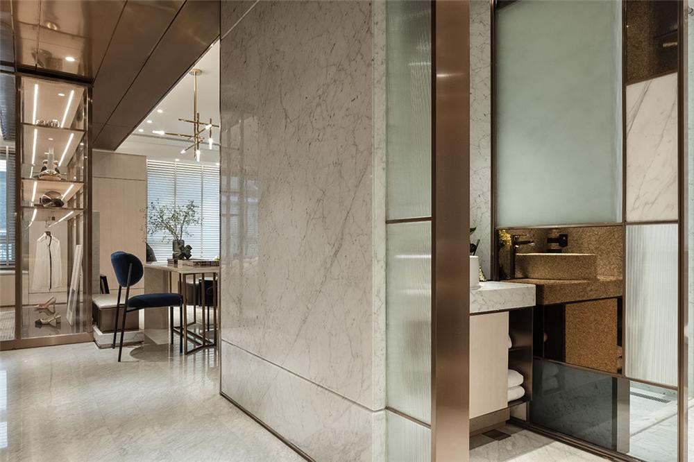 装修设计 装修完成 现代风格 卧室图片来自幸福空间在99平,质材层递  都会美感生活的分享