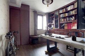 三居 混搭 收纳 旧房改造 久栖设计 室内设计 装修设计 色彩 软装 书房图片来自久栖设计在【久栖设计】颜色采集站的分享
