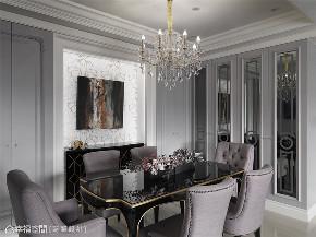 装修设计 装修完成 新古典 餐厅图片来自幸福空间在99平,内敛优雅 时尚新古典的分享