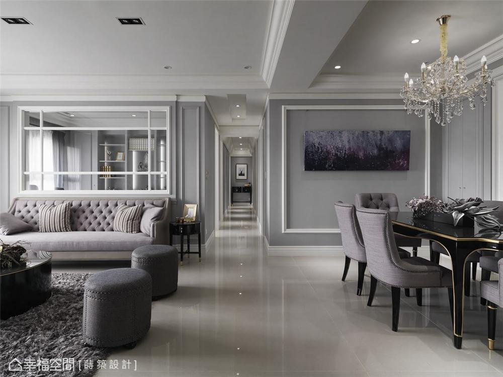 装修设计 装修完成 新古典 客厅图片来自幸福空间在99平,内敛优雅 时尚新古典的分享
