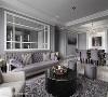 穿透视野 不仅公领域的客、餐厅以开放式设计拉大空间感,沙发背墙也以透明玻璃区隔出书房,拉近居住者互动距离。