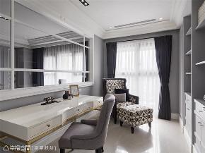 装修设计 装修完成 新古典 书房图片来自幸福空间在99平,内敛优雅 时尚新古典的分享