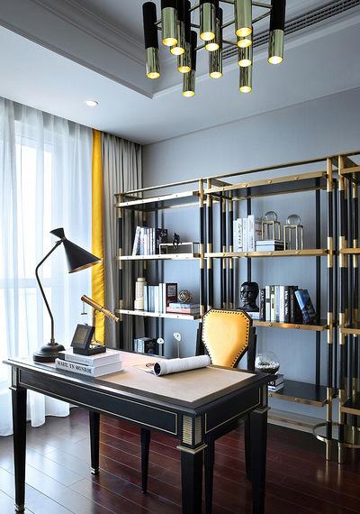 书房图片来自家装大管家在当代美学 146平轻奢时尚现代3居的分享