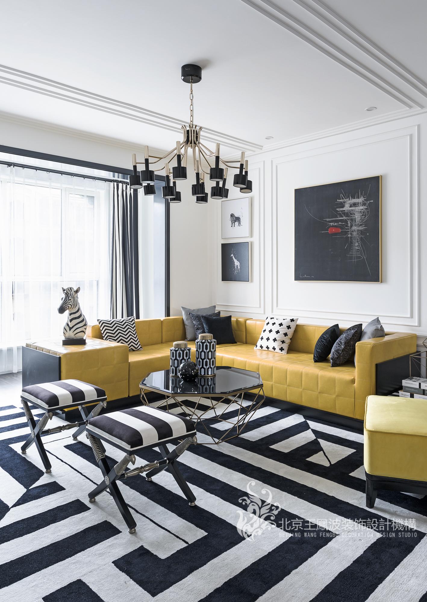 客厅图片来自王凤波设计机构在斑马纹里的贵族世界,王凤波装饰的分享