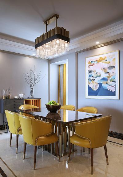 餐厅图片来自家装大管家在当代美学 146平轻奢时尚现代3居的分享