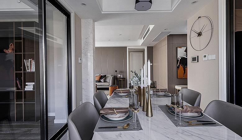 餐厅图片来自家装大管家在特立独行 109平现代时尚大气3居的分享