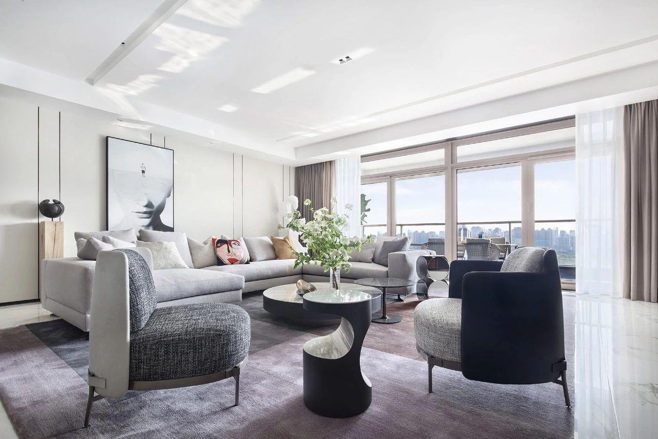 汤臣一品 大平层装修 现代风格 腾龙设计 客厅图片来自腾龙设计在汤臣一品大平层项目设计的分享
