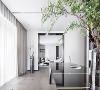 汤臣一品大平层项目装修现代风格设计案例展示,上海腾龙别墅设计作品