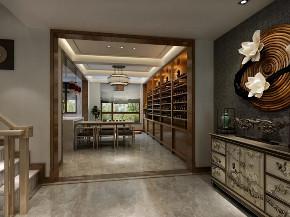 中式 玄关图片来自晋级装饰潘露在晋级装饰--香缇别墅380平米的分享