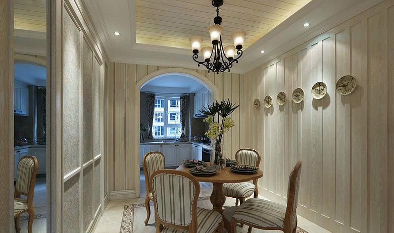 餐厅图片来自家装大管家在精致自然 110平美式混搭舒适3居的分享