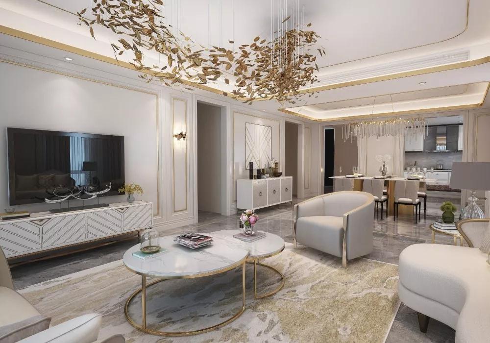 轻奢 客厅图片来自晋级装饰潘露在晋级装饰——中海龙湾450平米的分享