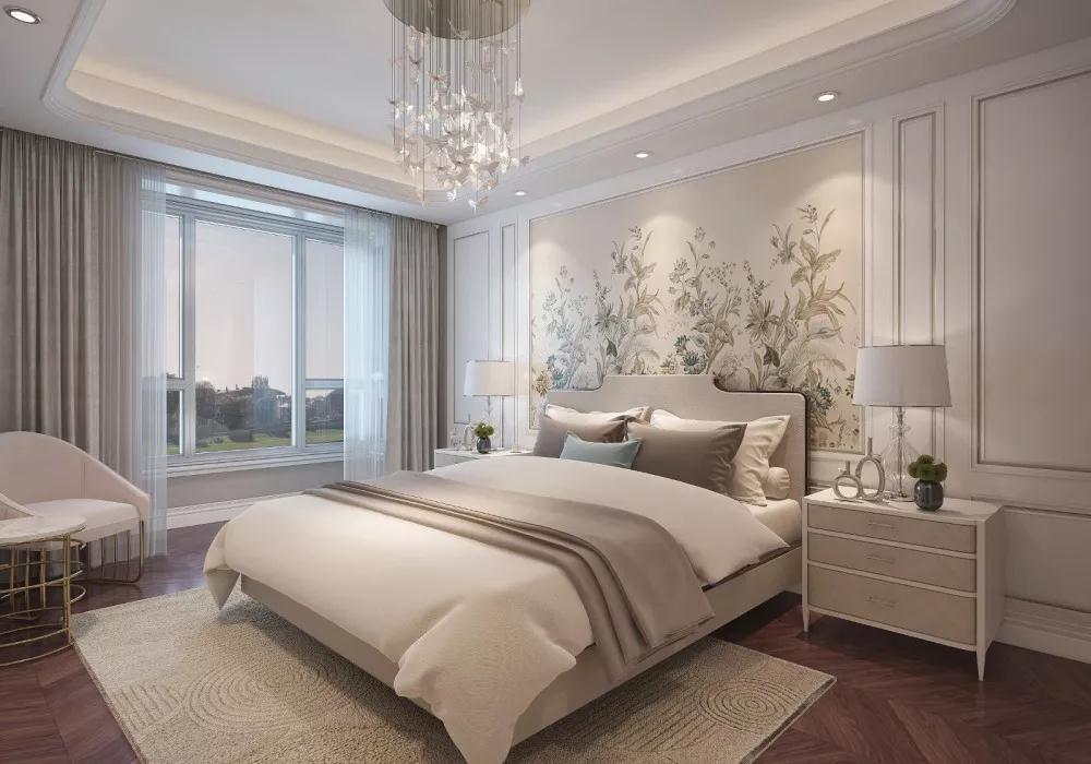 轻奢 卧室图片来自晋级装饰潘露在晋级装饰——中海龙湾450平米的分享