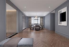 现代轻奢 大平层 大户型 灰蓝色的家 时尚 轻奢 现代 80后 餐厅图片来自几墨空间设计在几墨设计|灰蓝色的家的分享