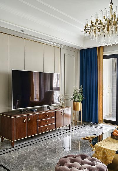 客厅图片来自家装大管家在舒适平淡 135平现代美式休闲3居的分享