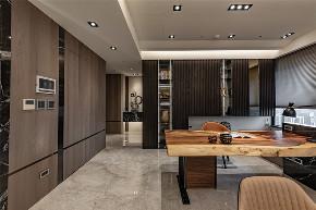 装修设计 装修完成 混搭 书房图片来自幸福空间在149平,木石间的淳和与清丽对比的分享