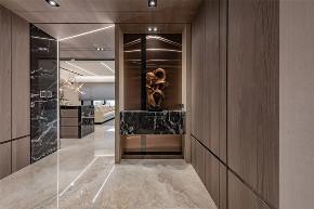 装修设计 装修完成 混搭 玄关图片来自幸福空间在149平,木石间的淳和与清丽对比的分享