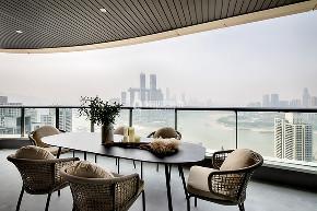 简约 现代 民宿 现代风格 餐厅图片来自俏业家装饰在重庆喜马拉雅大平层现代风格装修的分享