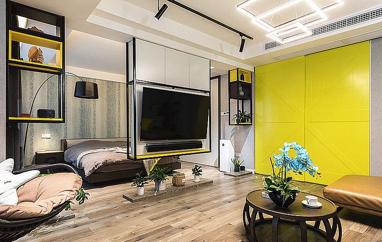 客厅图片来自家装大管家在暖暖的空间 62平现代简约雅致居的分享