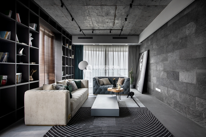 简约 现代 民宿 现代风格 客厅图片来自俏业家装饰在重庆喜马拉雅大平层现代风格装修的分享