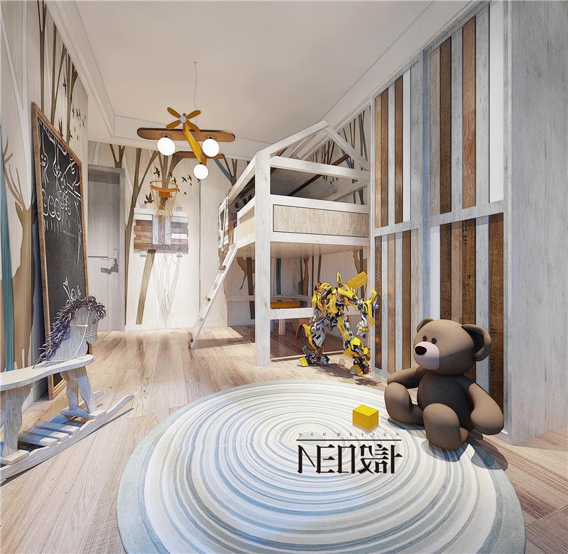 现代极简 三居 80后 小资 儿童房图片来自尼欧 | NEO设计在尼欧—《遇见》的分享