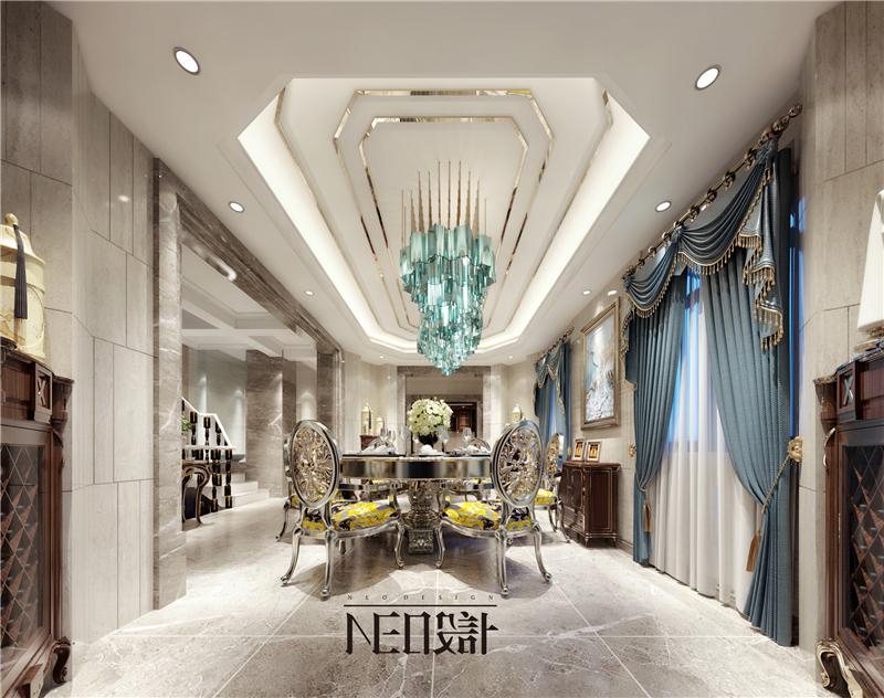 美式 别墅 收纳 旧房改造 尼欧设计师 福州设计师 餐厅图片来自尼欧 | NEO设计在尼欧—《雅韵华章》的分享