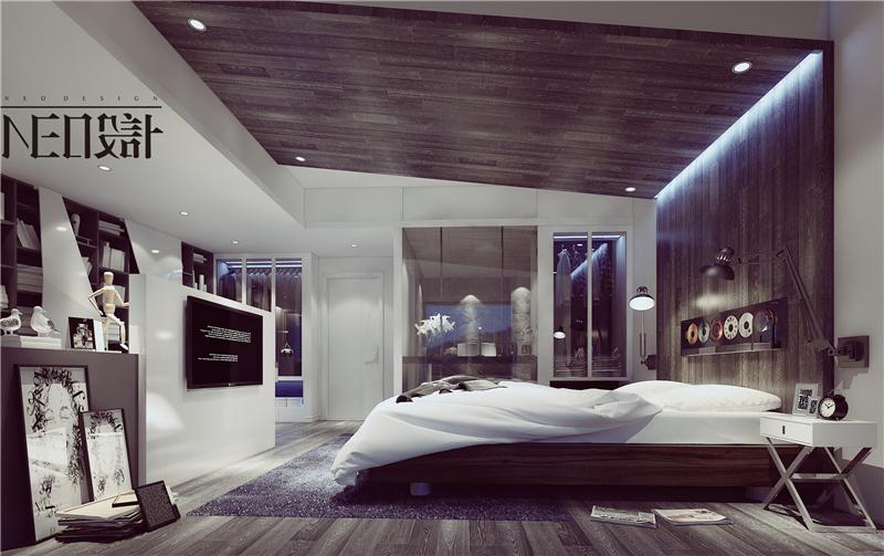 简约 二居 混搭 白领 旧房改造 收纳 80后 小资 卧室图片来自尼欧   NEO设计在尼欧—《白色光影》的分享