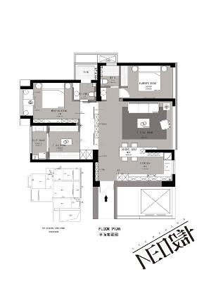 现代 三居 白领 收纳 旧房改造 80后 小资 户型图图片来自尼欧   NEO设计在尼欧—《灰姑娘》的分享