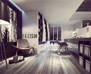 简约 二居 混搭 白领 旧房改造 收纳 80后 小资 书房图片来自尼欧 | NEO设计在尼欧—《白色光影》的分享