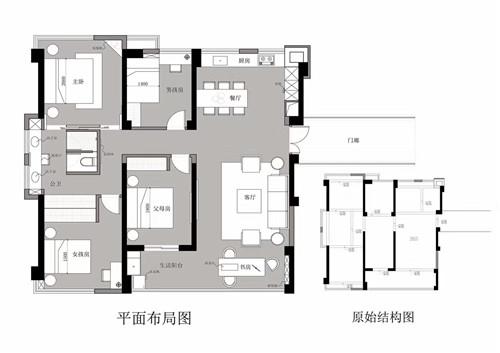 新中式 现代 尼欧设计 白领 收纳 旧房改造 小资 户型图图片来自尼欧 | NEO设计在尼欧——《宅》的分享